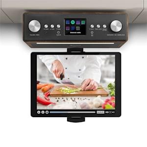 """Connect Soundchef radio de cocina con soporte para tableta DAB+ FM 2 x 3"""" - altavoces nogal"""