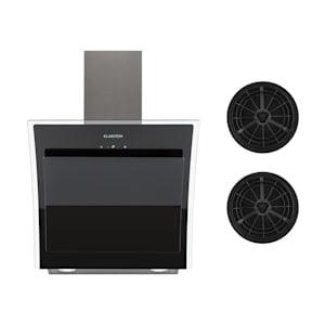 Sabia 60, kuhinjska napa, 60 cm, uključujući dva filtera s aktivnim ugljenom, crna boja