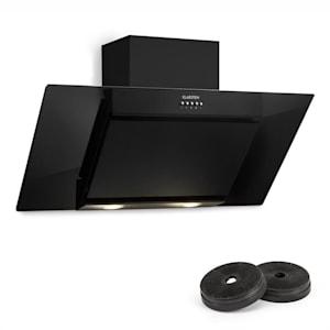 Zola Hotte aspirante 90cm + 2 filtres recyclage d'air 635m³/h noir