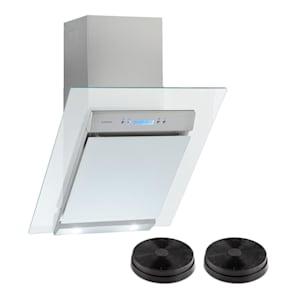 Skycook, odsavač par, set, filtry s aktivním uhlím, 60 cm, 640m³/h, sklo, nerezová ocel
