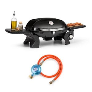 Parforce One, plynový gril, 3,5 kW, 12000 BTU, 300 °C, SNJS, plynová hadica, čierny