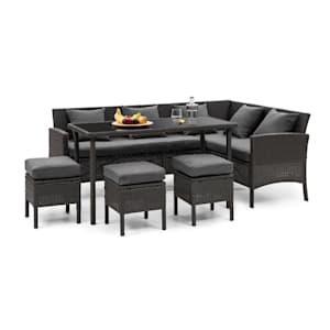 Titania Dining Lounge Set Muebles de jardín Negro/Marengo