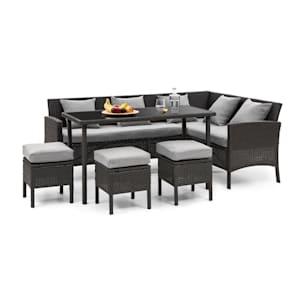 Titania Dining Lounge Set Muebles de jardín Negro/Gris claro