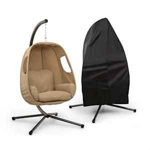 Bella Donna sillón colgante + cubierta protectora   crema