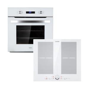 Klarstein Gusteau Delicatessa inbouwset oven & inductie 7000W 64L wit rvs