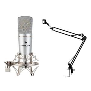 MIC-920 USB Mikrofon-Set V3 Kondensatormikrofon Mikrofonarm silber