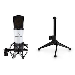 MIC-920 USB Mikrofon-Set V1 Kondensatormikrofon Mikrofonstativ Plug & Play weiß