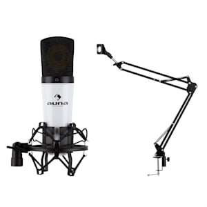 MIC-920 USB Mikrofon-Set V3 Kondensatormikrofon Mikrofonarm weiß