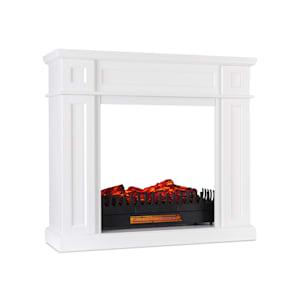 Lausanne Frame corps de cheminée + insert de cheminée Kamini FXL MDF blanc