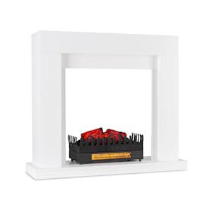 Studio Frame Kamingehäuse-Set Dekokamin + Kamini FX Kamineinsatz | klassisches Design | MDF | Wandverschraubung | 100 x 88 x 30 cm | Kamin-Einsatz: 1000/2000W | täuschend echte Feuerillusion mit 2W LED