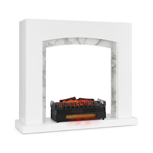 Studio Frame II schouw + Kamini FX open haard omlijsting 2000W MDF modern design