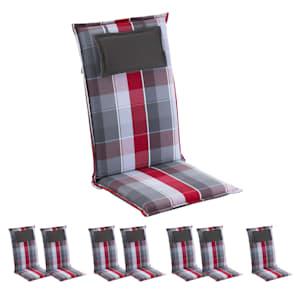Donau Polsterauflage Sesselauflage Hochlehner Gartenstuhl Polyester 50x120x6cm