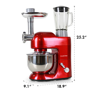 Lucia Rossa Kitchen Machine Meat-grinder Mixer 650W 1.6 HP 5 qt red