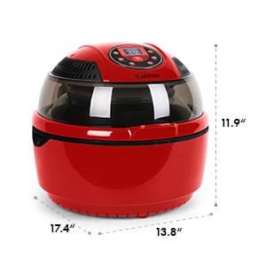 VitAir Hot Air Deep Fryer Red 1400 W Fry Grill Bake 9.5 qt.