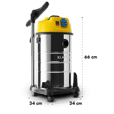 Arebos Industrie Aspirateur Humide /& Sec Aspirateur 1600 W aspirateur 30 L Jaune