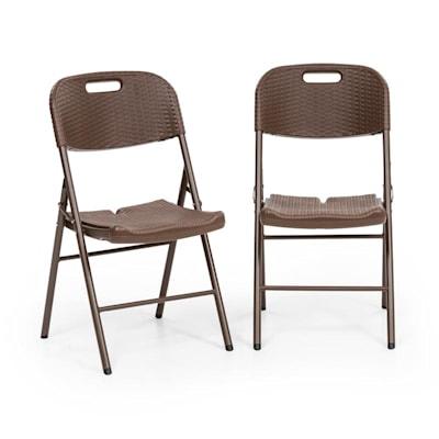Blumfeldt Burgos Seat Set 2 chaises de jardin pliantes acier