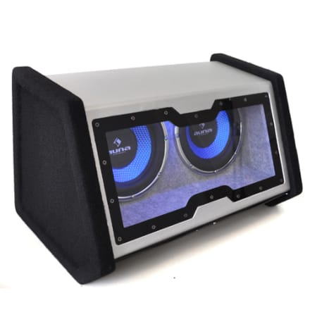 """2X10"""" Double Subwoofer with LED Light Effect 2000 watts."""
