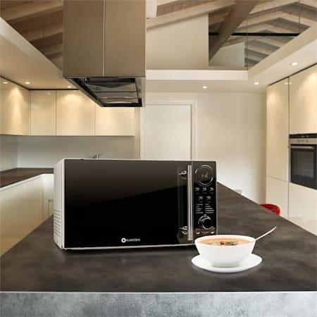 Luminance Prime Mikrowelle mit Grill 700W 20 Liter Edelstahl
