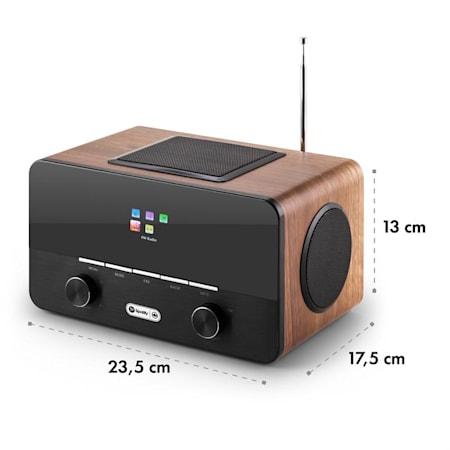 auna Connect 150 BK /• 2.1 Internet Radio /• Wi-Fi Music Player /• Spotify Connect /• MP3 USB Port /• AUX /• Remote Control /• Black