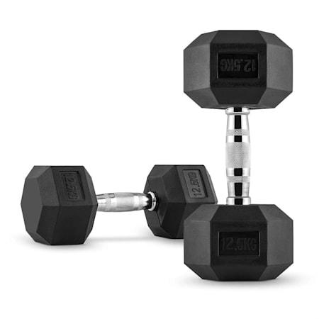 Capital Sports Hexbell 2,5 Bilanciere Coppia pesi 2,5 kg