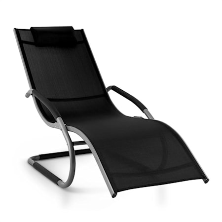 Sedie Sdraio Da Giardino Plastica.Blumfeldt Sunwave Sedia A Sdraio Da Giardino Relax In Alluminio Nera
