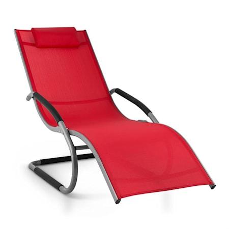 Sedie Sdraio Da Esterno.Blumfeldt Sunwave Sedia Sdraio Da Giardino Relax In Alluminio Rosso