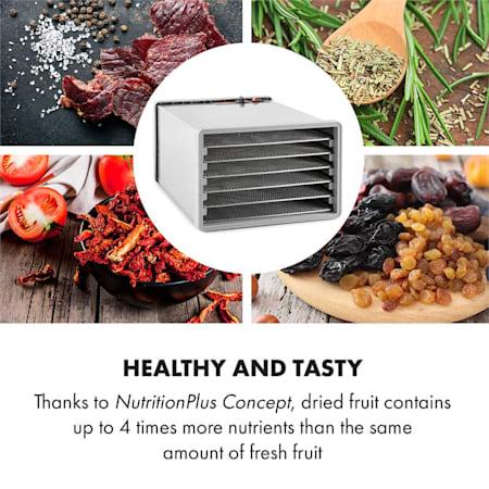 Déshydrateur alimentaire Fruits-légumes Séchoir ajustable 8 Étages en Acier 630W