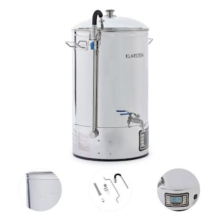 Caldaia Birra Artigianale Home Brewing Ammostament Pentola Impianto 15L 30-140°C