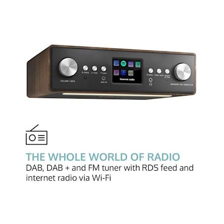 Connect Soundchef Radio de cuisine encastrable noyer
