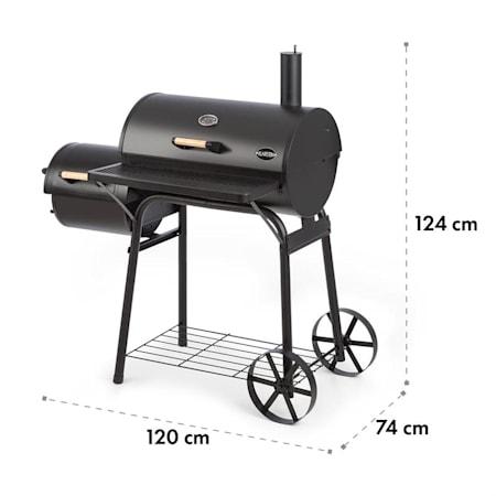 Klarstein Beef Brisket rök grill termometer hjul svart