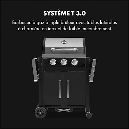 Klarstein Tomahawk 3.0 T Barbecue à gaz 3 brûleurs 3,2 kW