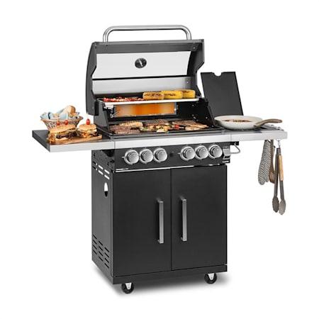 KLARSTEIN Barbecue Gaz Grilles Cuisson Fonte Thermomètre