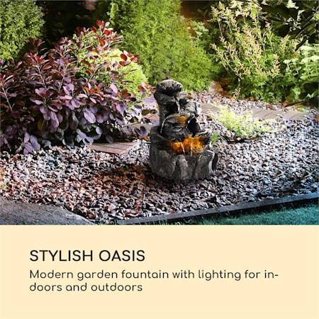 Fontaine solaire décorative extérieur Jardin Terasse Jeu d/'eau 2,8W 5h LED