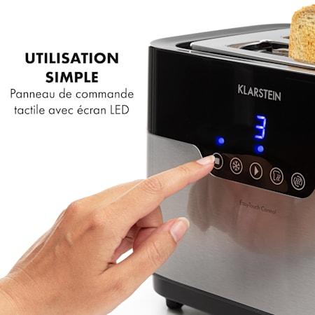 Klarstein Arabica Grille pain 2 fentes 920W écran LED