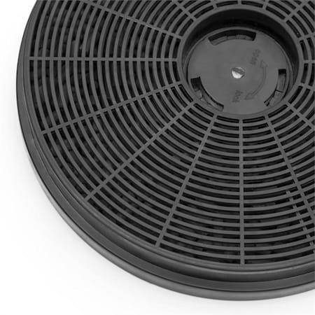 Klarstein filtro de carb/ón activo para campana extractora 2 filtros de recambio para absorci/ón de 18,5 cm de di/ámetro