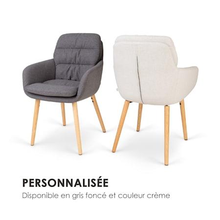 Besoa Doug chaise rembourrée mousse pieds en bois polyester