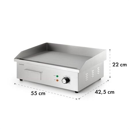 18,5 kg Taimiko Elektrische Grillplatte aus Edelstahl Ablaufgarnitur 240 V Spritzschutz 3000 W 220 glatt