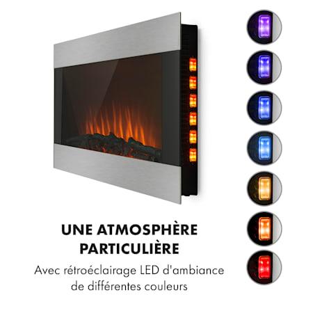 Basel Illumine Elektrische Haard 2000w 2 Standen Thermostaat Glas Edelstaal