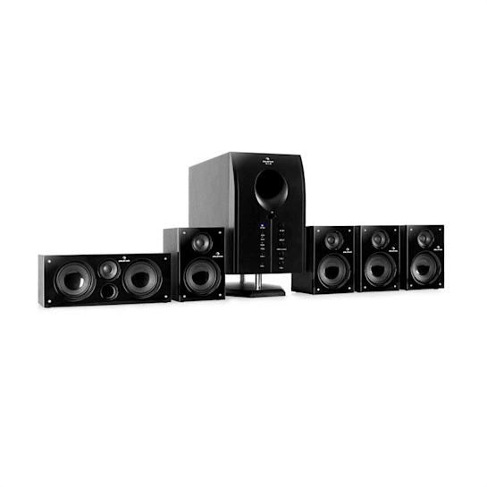 MM-Areal 525 BK Impianto home theatre Areal 525 Bk 5.1 attivo subwoofer hif