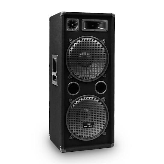 """PW-2222 3 Way DJ PA Speaker 2 x 12"""" (30cm) 1000W"""