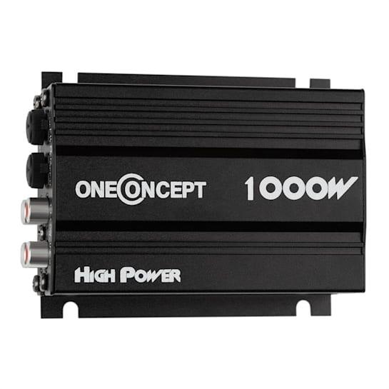 4-kanavainen auto-päätevahvistin oneConcept X4-A4 musta kompakti