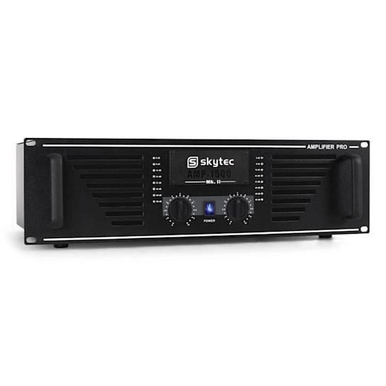 AMP-1500 PA-Verstärker 2400W schwarz Endstufe