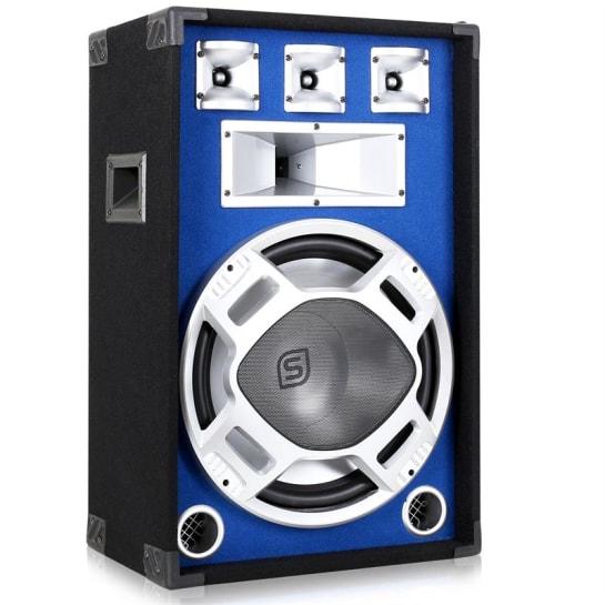 Cassa 38 cm con subwoofer LED blu 800W