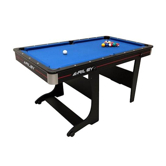 Poolbillard-Tisch Tischtennisplatte 152 x 84 x 79cm klappbar 2x Queue