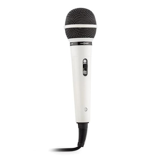 microfono dinamico unidirezionale bianco