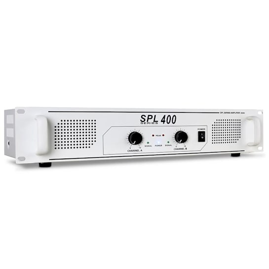SPL-400 DJ PA-Verstärker Endstufe 2x 200 Watt weiß