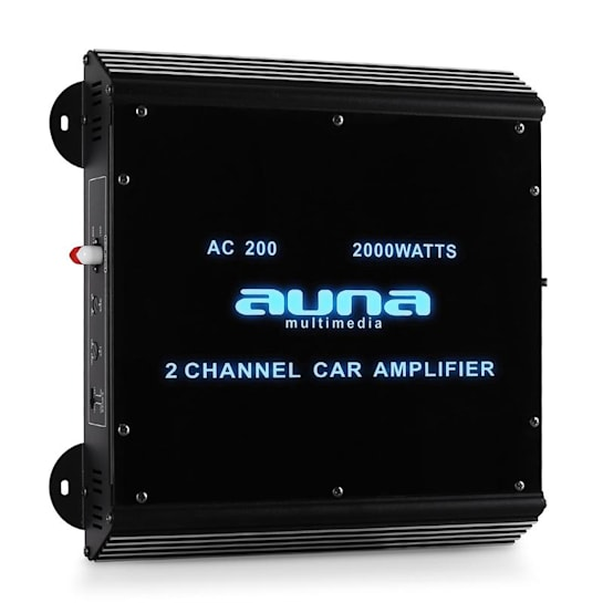 W2-AC200 2-Channel Car Amplifier with LED Lights 2000W