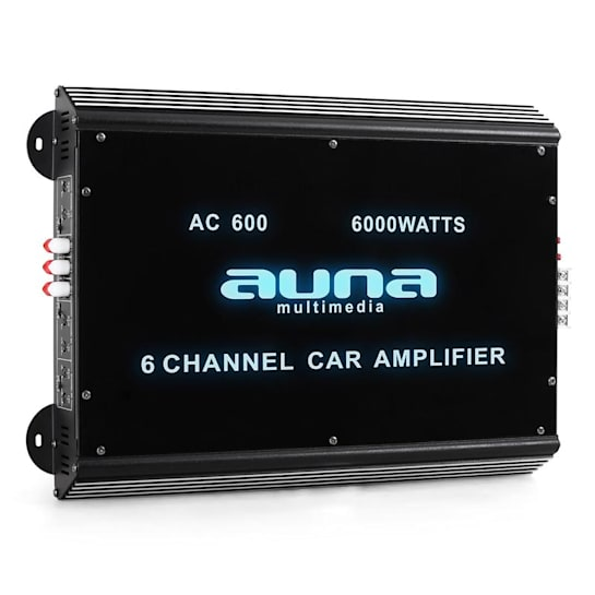 W2-AC600 6-Channel Car Amplifier with LED Lights 6000W