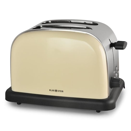 Grille-pain toaster 2 tranches inox 1000W crème