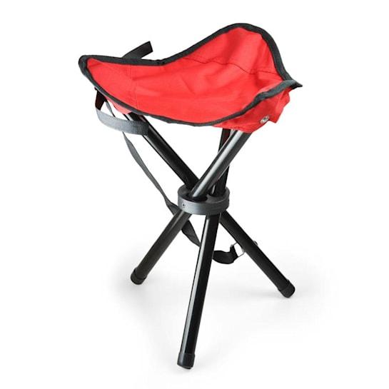 Přenosná kempovací židle, rybářská stolička, červeno-černá,